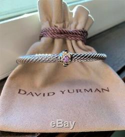 $650 David Yurman Renaissance Bracelet W Pink Tourmaline, Rhodalite Garnet & 14k