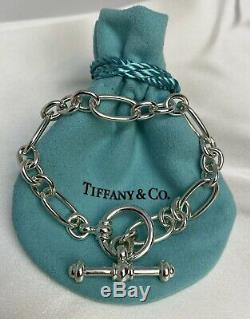$650 Tiffany & Co Paloma Picasso Sterling Silver 925 Groove Link Toggle Bracelet
