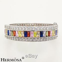 65% Off Kunzite Peridot Morganite Topaz 925 Sterling Silver Bracelet 8 Pl005