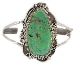 $690Tag Sterling Silver Navajo Natural Turquoise Native American Cuff Bracelet