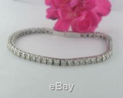 6.00 Ct Round Cut Diamond 14K White Gold Over Tennis Bracelets For Women's 7.25