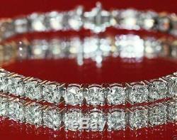 6.00 Ct Round Cut VVS1 Diamond Tennis Bracelet 7 Inch 14K White Gold Over