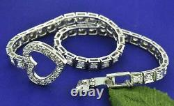 6.0 Ct White Round Cut VVS1/D Diamond Tennis Bracelet 14K White Gold Over 6.75