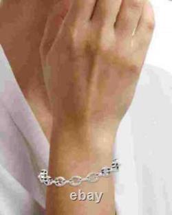 6.50 ct round cut diamond women's tennis bracelet 14k white gold over 7.5 inch