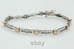 6 Ct Round Diamond 14K Yellow White Gold Over Female's Tennis Bracelet 7.50 Inch