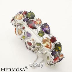 72% OFF Multi-gems Morganite Peridot Amethyst 925 Sterling Silver Bracelets 8