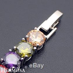 75% OFF 26PCS. Morganite Peridot Amethyst Garnet 925 Sterling Silver Bracelet 7