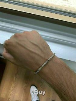 7.00 Carat Princess Cut VVS1 Diamond Tennis Bracelet 14k Yellow Gold Over 7.25