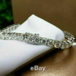 7.00 Carat Round Cut VVS1 Diamond Tennis Bracelet 14k White Gold Over 7.25
