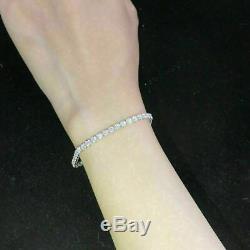 7.00 Carat Round Diamond Tennis Bracelet 14k White Gold Over 7.25