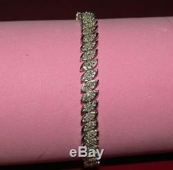 7.00 Carat Round Ladies VVS1 Diamond Tennis Bracelet 14k White Gold Over 7.25
