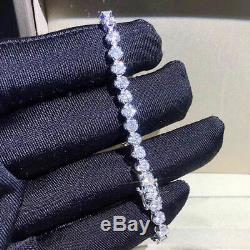 7.00 Carat Round VVS1 Diamond Tennis Bracelet 14k White Gold Over 7.25