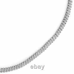 7.00 Ct Diamond Tennis Bracelet 7.25 Round Cut Diamonds 14K White Gold Over