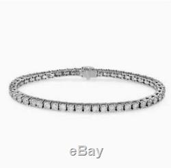 7.00 Ct Diamond Tennis Bracelet 7 Inch 1 Row Round Diamonds 14K White Gold Over