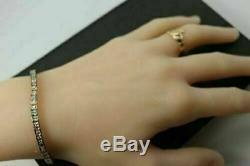 7.00 Ct Princess-Cut 14K Yellow Gold Over 14k Diamond Tennis Bracelet 7 Inch