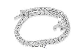 7.00 Ct Round-Cut 14k White Gold Over Diamond Tennis Bracelet D/VVS1 7.25 Inch