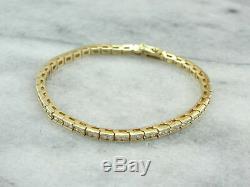 7.00 Ct Round-Cut D D/VVS1 Diamond Tennis Bracelet 14K Yellow Gold Over 7.25