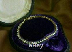 7.00 Ct Round Cut VVS1 Diamond Tennis Bracelet 14K Yellow Gold Over 7.25