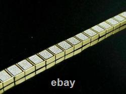 7.25 Inch 14K Yellow Gold Over 7.00 Ct Round-Cut Diamond Womens Tennis Bracelet