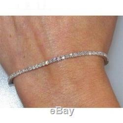 7 Inch VVS1 Diamond Tennis Bracelet 8.00 Ct In 14K White Gold Over