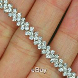 8.00 Ct Round Cut VVS1 Diamond Unisex Bracelet 14K Yellow Gold Over 7.25