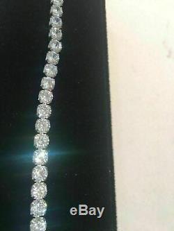 8 Ct Diamond Tennis Bracelet 7 Inch 1 Row Round Diamonds 14K White Gold Over