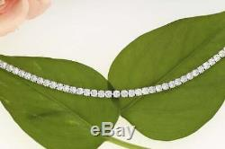 925 Silver 8.00 CT Diamond Prong Set Tennis Bracelet 7.5 In 14K White Gold Over