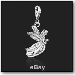 925 Sterling Silver Angel Clip on Bracelet Charms for Charm Bracelets