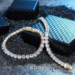 9.50Ct Round Cut D/VVS1 Diamond Tennis Bracelet 14k Yellow Gold Over 7 Inch 4mm