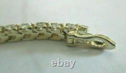9 CT 14K Yellow Gold Over New Women's Special Diamond Tennis Bracelet 7.50 Inch