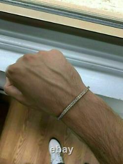 9. Carat Princess Cut VVS1 Diamond 14k Yellow Gold Finish Tennis Bracelet 7.25