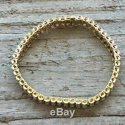 Amazing Mens Womens 10K Yellow Gold Over 8 CT Diamond Tennis Bracelet 7.75 Inch