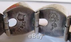 Antonio Pineda Mexico Vintage Dimensional Sterling Silver Modernist Bracelet
