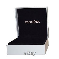 Authentic PANDORA Sterling Silver Bangle Bracelet MOM PURPLE European Charms
