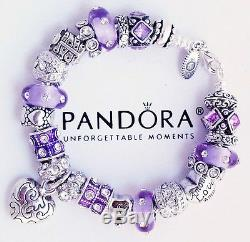 Authentic Pandora Sterling Silver Bracelet with Heart Love Gift European Charms