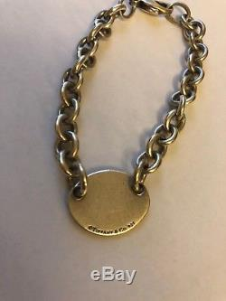 Authentic Please Return To Tiffany & Co. Sterling Silver Oval Tag Bracelet