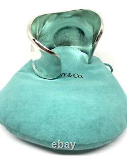 Authentic Tiffany & Co. Elsa Peretti Sterling Silver Bone Cuff Bracelet Right