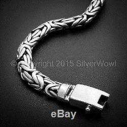 Bali Byzantine Borobudur Bracelet 6mm Oval 925 Sterling Silver