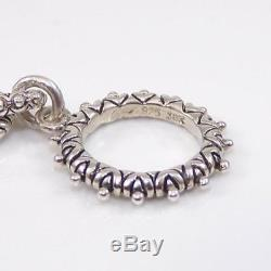 Barbara Bixby Sterling Silver 18K Gold Diamond Rolo Toggle Bracelet 7.5 LDC3