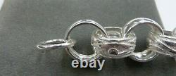 Belcher Bracelet Sterling Silver Heavy Solid 7 1/2 50 grams- 16 mm links