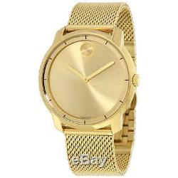 Brand New Movado Bold 3600373 Gold Stainless Steel Men's Swiss Quartz Watch