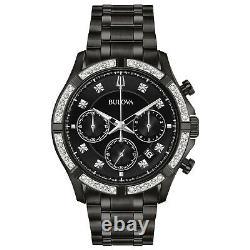 Bulova Marine Star Men's Quartz Diamond Accent Chronograph 44mm Watch 98E118