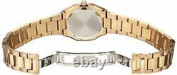 Bulova Women's Quartz Diamond Accent Gold Tone Bracelet 30mm Watch 97P109