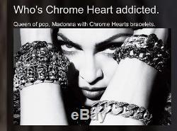 CHROME HEARTS Sterling silver Cross Charm Ball Bracelet