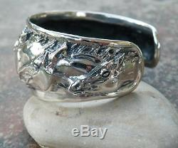 Cavalli Del Mar Equestrian Sterling Silver Portrait Horse Cuff Bracelet