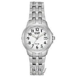 Citizen Eco-Drive Women's White Dial Date Indicator 26mm Watch EW1540-54A