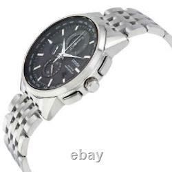 Citizen World Time A-T Perpetual Chronograph Black Dial Men's Watch AT8110-53E