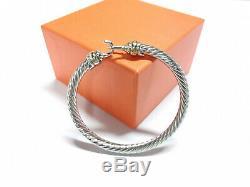 Classic David Yurman Cable Buckle 5mm 18k Gold 925 Sterling Silver Bracelet