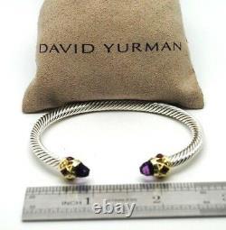 DAVID YURMAN 5mm Renaissance Bracelet Amethyst 14k Gold Sterling Silver