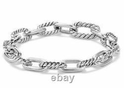 DAVID YURMAN Madison Chain Sterling Silver 8.5mm Bracelet Size M NEW